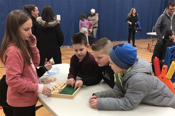 LGES Students at Math Night 2019
