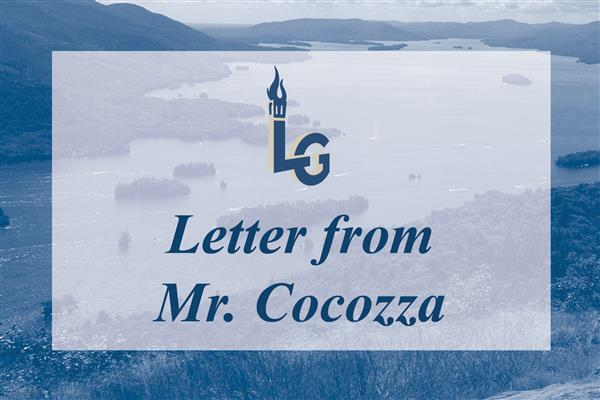 Letter from Mr. Cocozza