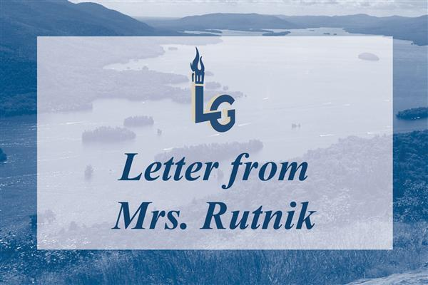 Letter from Mrs. Rutnik