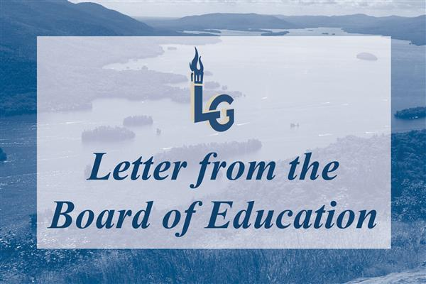 Letter from the Board of Education